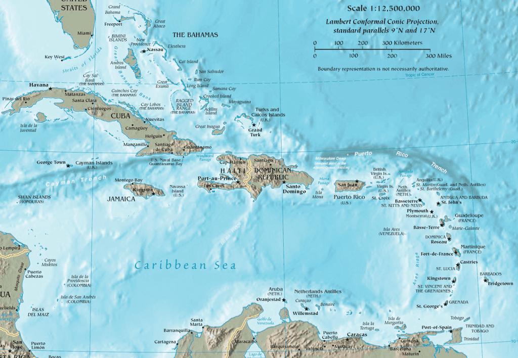 barca a vela mar caraibi